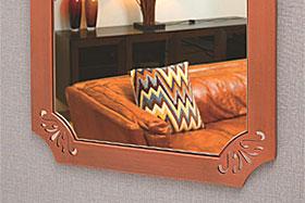 壁掛け鏡・ウォールミラー:ユニークな色彩の鏡
