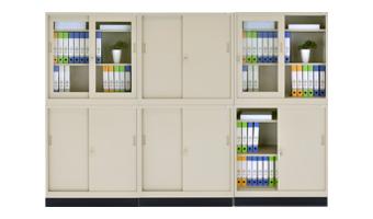スチール3×3書庫の設置例1