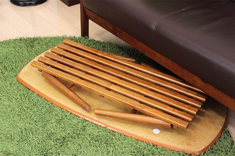 NOCELLO(ノチェロ) 棚付き 折りたたみテーブル 幅110cm