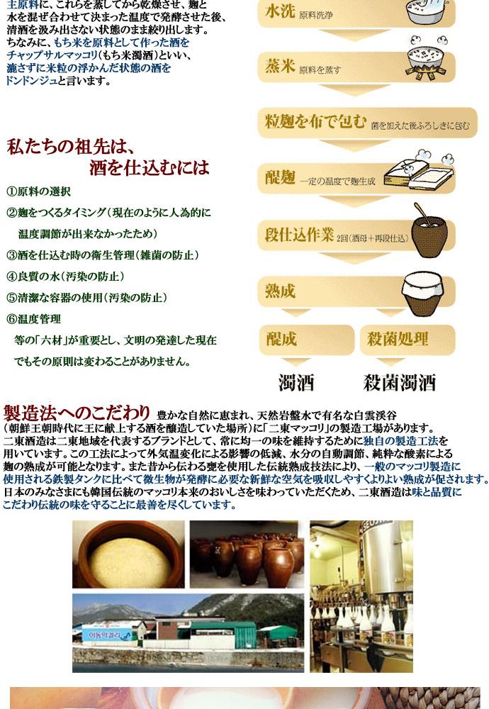 二東(E-DON)米マッコリ(PET)1L