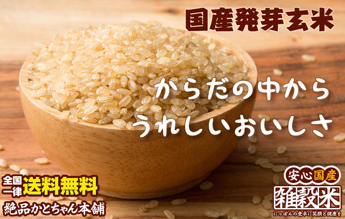 国産発芽玄米からだの中からうれしいおいしさ