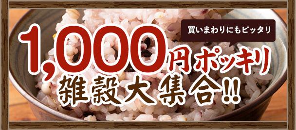 1000円ポッキリ 雑穀大集合
