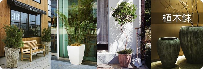 FRP製、テラコッタ、陶器製など多種の植木鉢をご用意しております。
