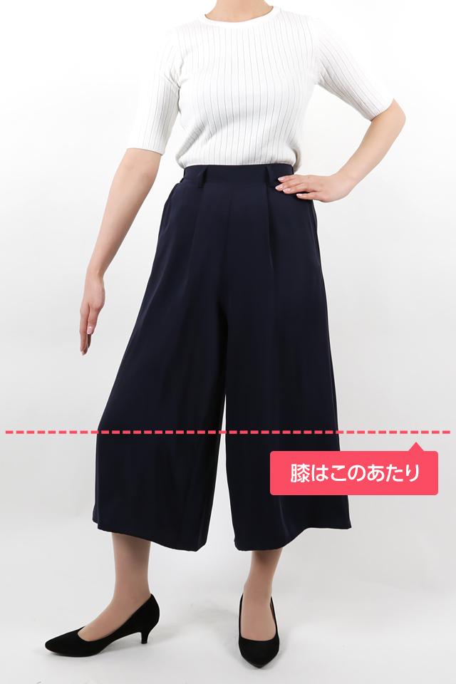 165cmのモデルが股下51cmのパンツを着たイメージ