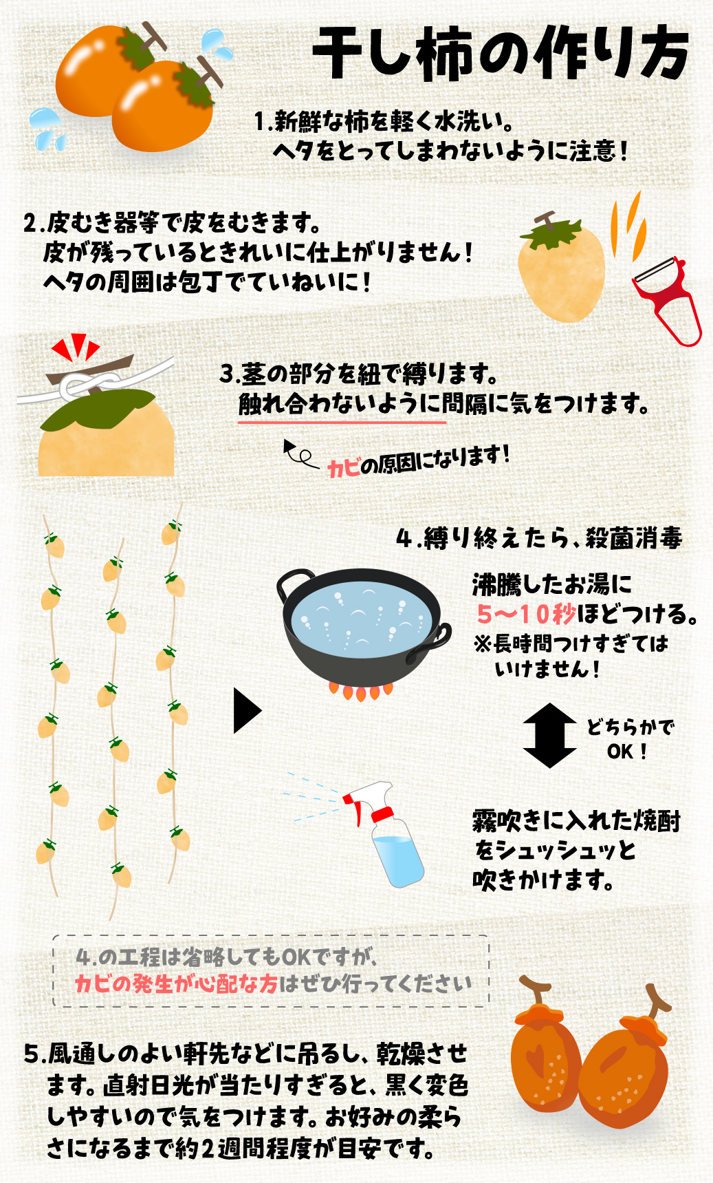 干し柿の作り方