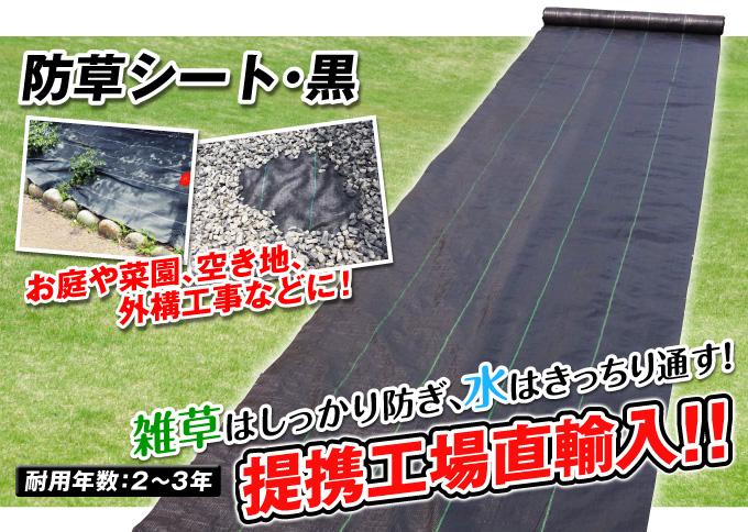 防草シート黒