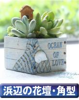 浜辺の花壇・角型