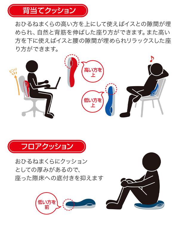 MOGU モグ おひるねまくら 使い方 腰用クッション 座布団として