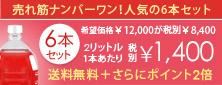 売れ筋ナンバーワン。人気のオイルランプ2リットル6本セット希望小売価格12000円が税別8400円。