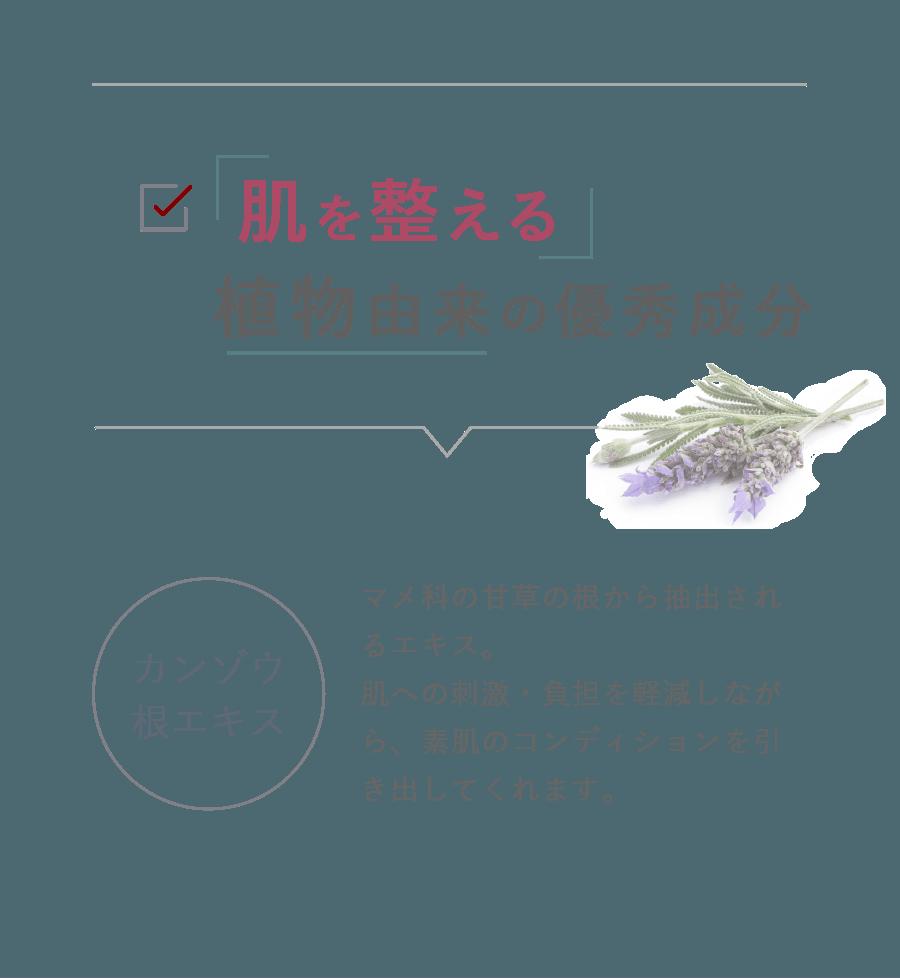 肌を整える植物由来の優秀成分 カンゾウ根エキス 肌荒れ防止