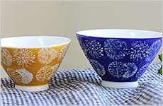 カラー丸紋飯碗