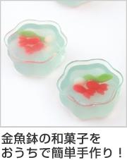 和菓子 型 金魚鉢 金魚 水草 シリコン製 6個取