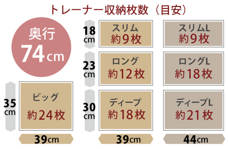 奥行き74センチサイズ1