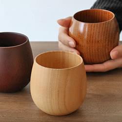 コップ 220ml 木製 エッグ型 漆 エッグカップ 天然木