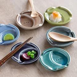 箸置き 小皿 付き おしゃれ くすみカラー はしおき 陶器