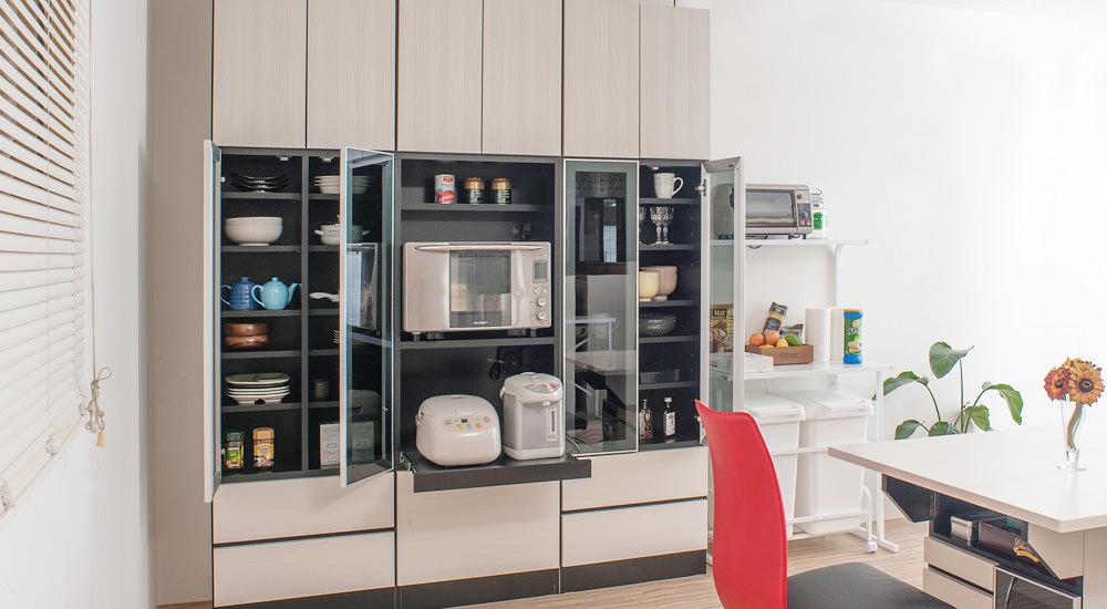 キッチンの電化製品や食器がスッキリ