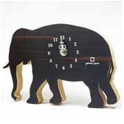 掛け時計 置き時計 ヤマト工芸 yamato SHADOW S ゾウ