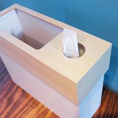 ティッシュケース ゴミ箱 CUBE