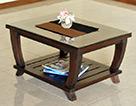 【横幅90cm】異国情緒が漂うユニークでおしゃれなローテーブル
