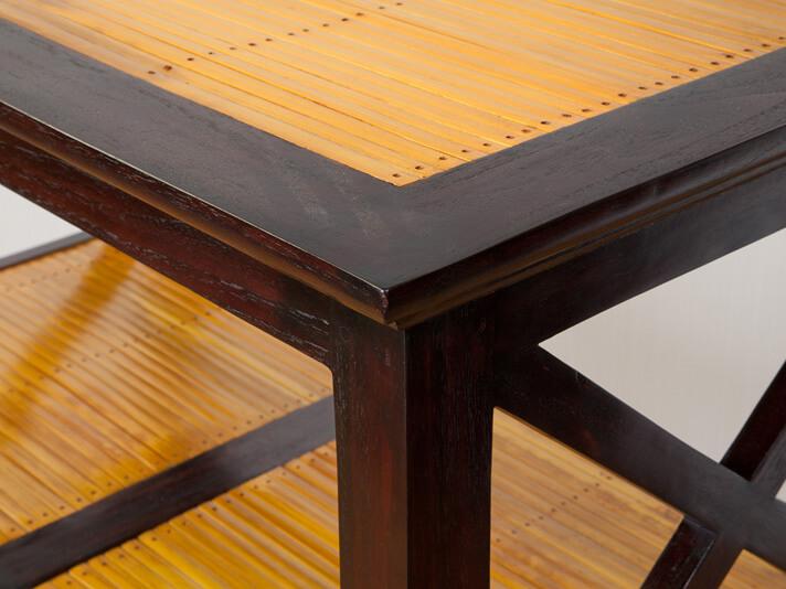 【A-017BR】無垢材のマルチオープンラック4段/H120cm/ダークブラウン