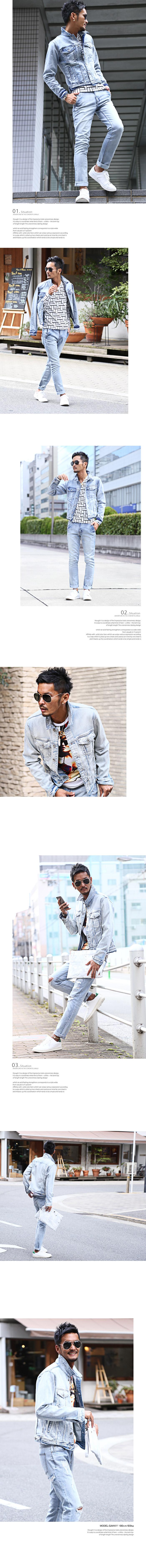 BITTER デニムジャケット Gジャン デニム ジャケット カットデニム ストレッチ ヴィンテージ ブリーチ ユーズド トレンド サーフ ビター系 ファッション 服 通販 アウター イメージ