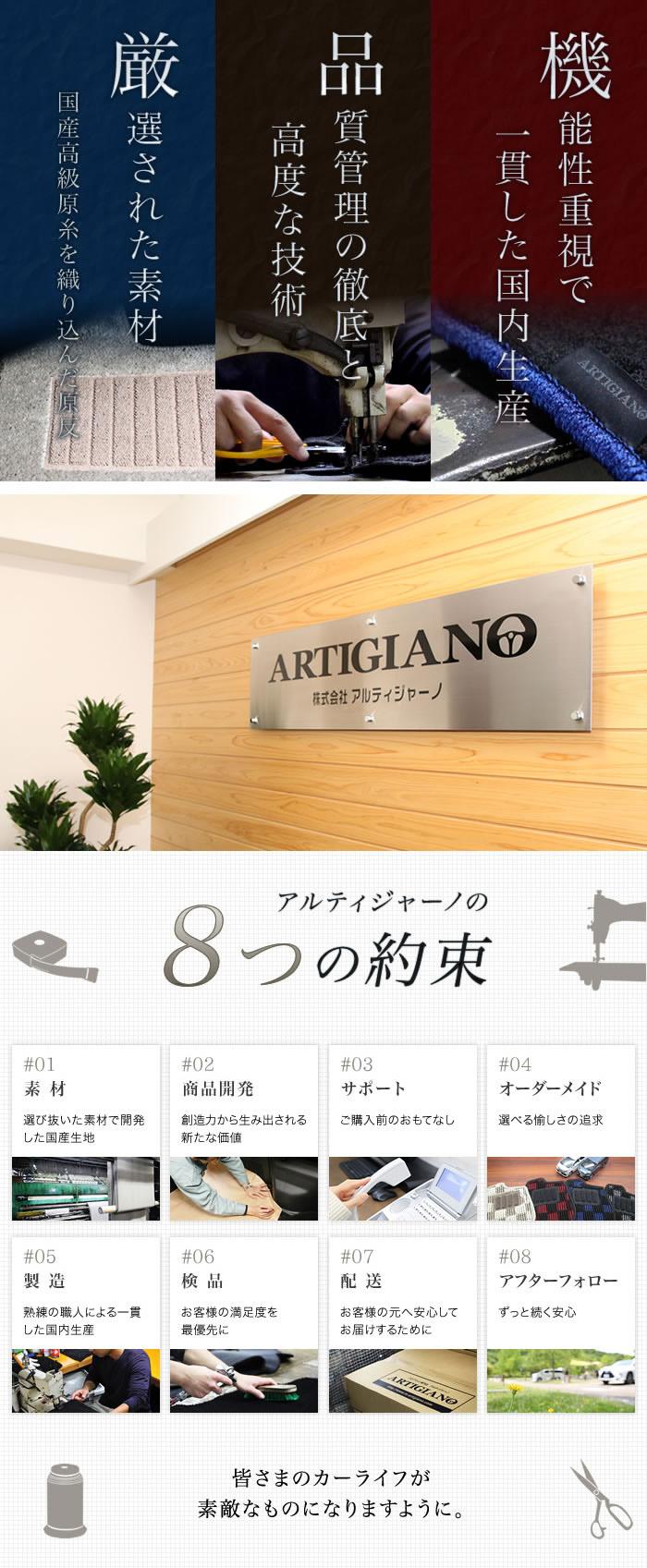 アルティジャーノが創造するフロアマットの「新たな価値」がここにあります。