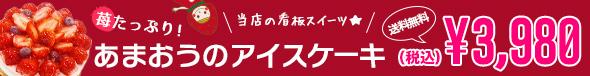 苺たっぷり!あまおうのアイスケーキ(5号)送料無料(税込)3,980 円