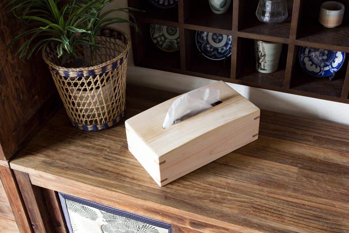 国産桧無垢材使用の手作りティッシュボックス