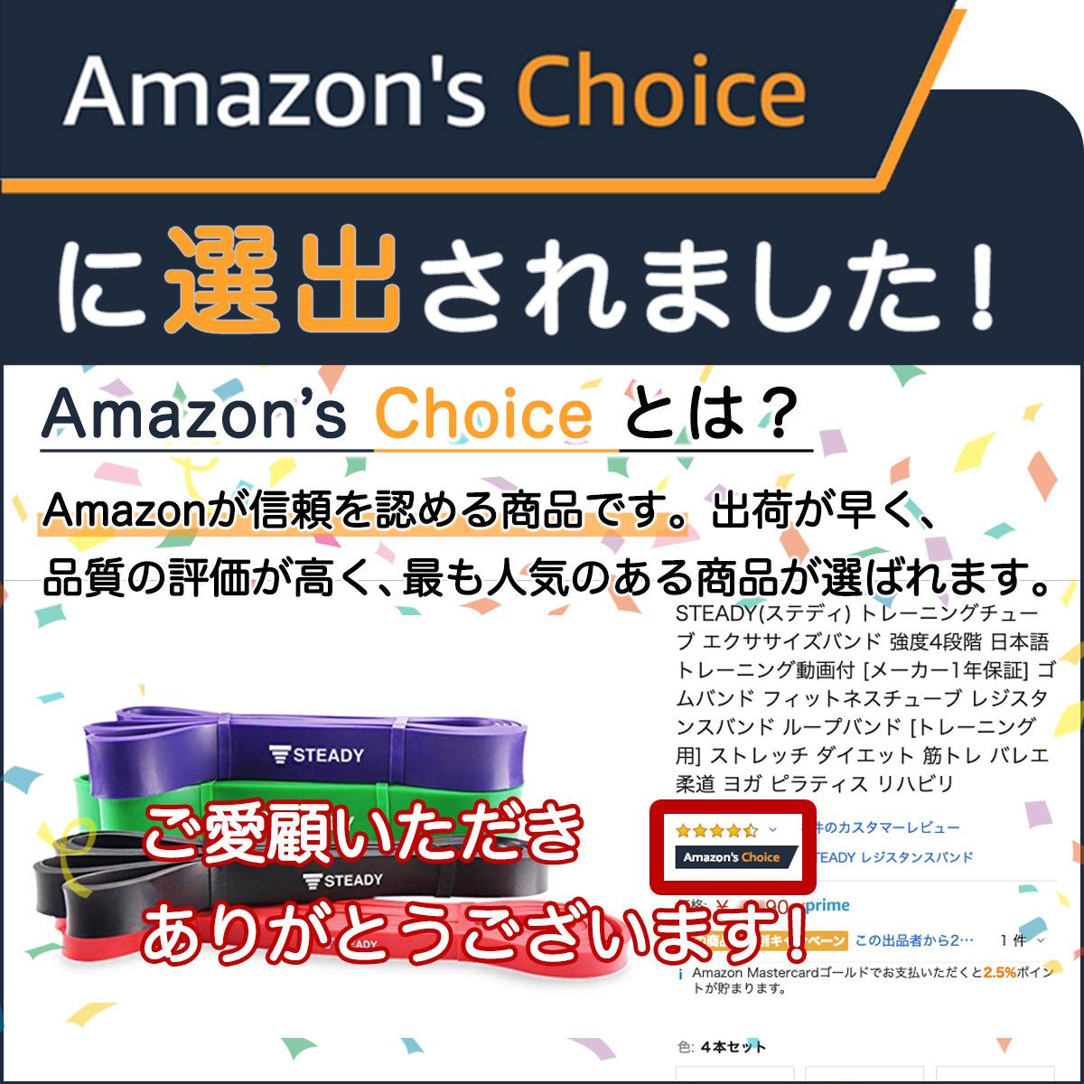 人気で評価の高い商品だけが認定されるamazon's choiceをいただきました。