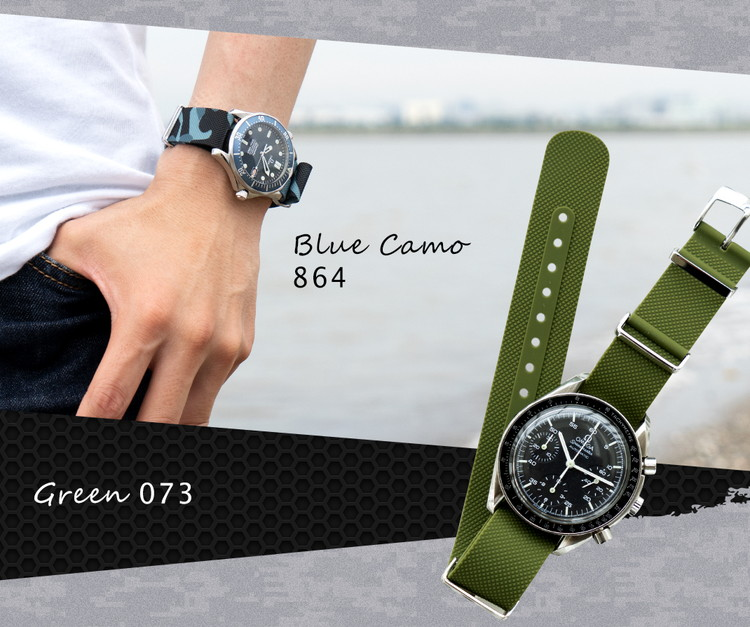 Blue Camo 864 Green 073