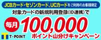 毎月100,000ポイント山分けキャンペーン