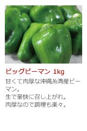 ビッグピーマン 1kg 甘くて肉厚な沖縄糸満産ピーマン。生で豪快に召し上がれ。肉厚なので調理も楽々。