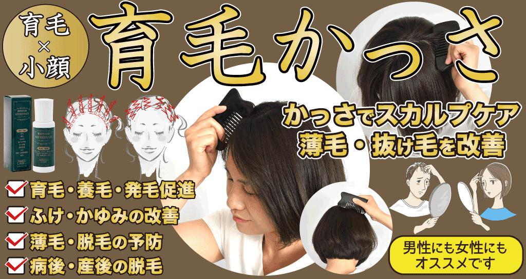 かっさのスカルプケア効果で薄毛・抜け毛を改善、発毛促進