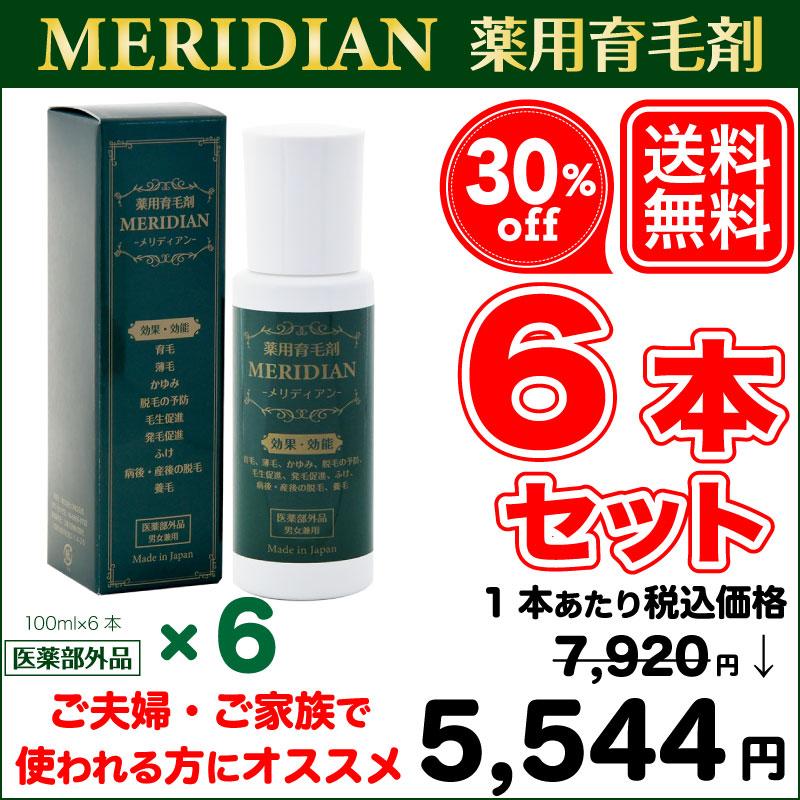 薬用育毛剤メリディアン6本セット