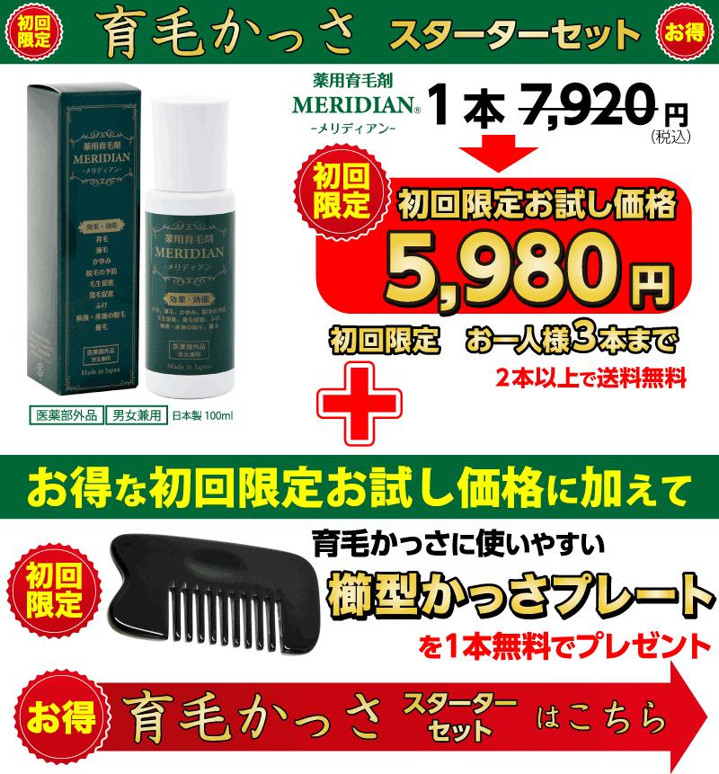 育毛かっさスターターセットの価格