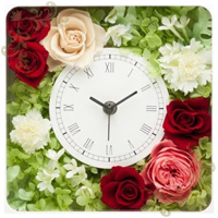 IKKABOのプリザーブドフラワーの花時計にレビューを頂きました。