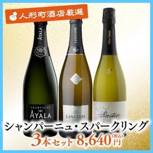 シャンパーニュ・スパークリング3本セット 8,640円(税込)