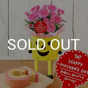 母の日 2018 ブリキマン【黄色】とカーネ(3号鉢) ケーキ