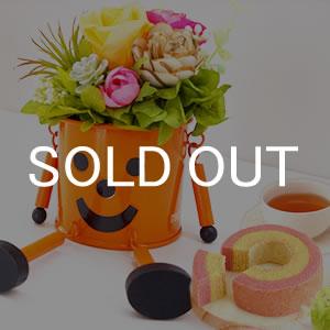 母の日 2019年  ブリキマン【オレンジ】+カップケーキ3個