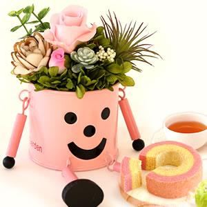 母の日 2018 ブリキマン【ピンク】+カップケーキ3個