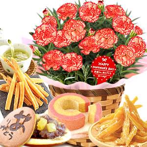 母の日 2019年  鉢花カーネーション【プラリネ】とスイーツ