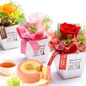 母の日 2019年  薔薇プリザエッフェル+カップケーキまとめ