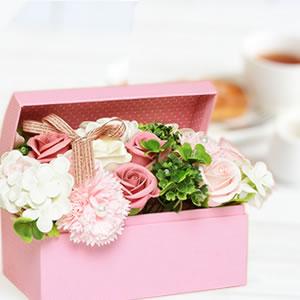 母の日のプレゼント シャボンフラワー ピンク