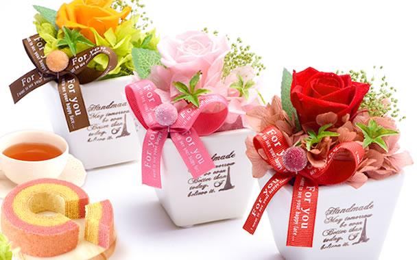 母の日 2018 薔薇プリザエッフェル+カップケーキまとめ