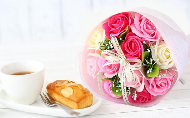 母の日 ローズブーケ ピンク