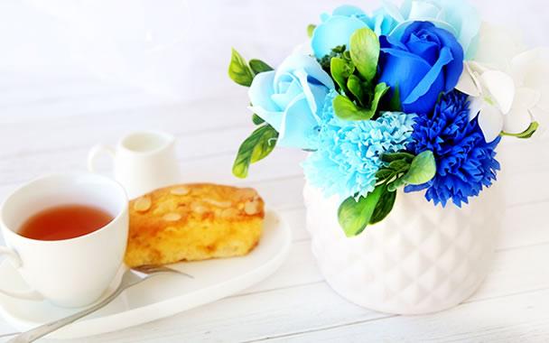 母の日 プレゼント  フラワー ブルー