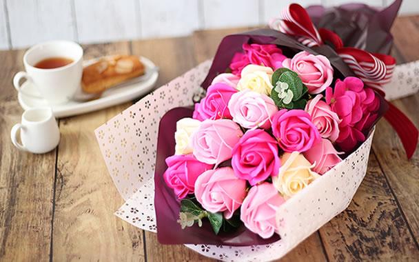 母の日のプレゼント 豪華花束 画像