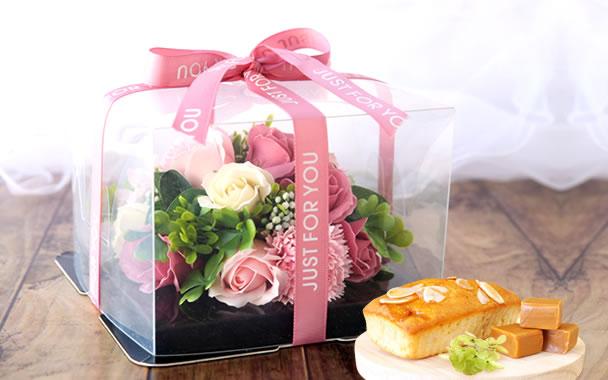母の日 プレゼント  フラワーケーキ ピンク