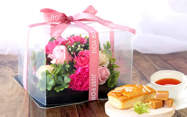 母の日 プレゼント  フラワーケーキ ローズピンク