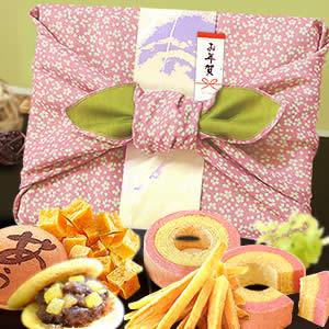 お歳暮・お年賀 2018 風呂敷和菓子セット